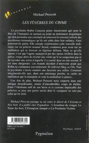 Les Tenebres Du Crime - 4ème de couverture - Format classique