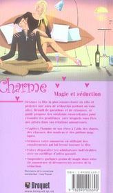 Charme, magie et seduction - 4ème de couverture - Format classique
