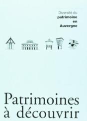 Diversite Du Patrimoine En Auvergne N 2 - Couverture - Format classique
