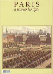 Paris A Travers Les Ages - 4ème de couverture - Format classique