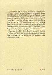 Florentine - 4ème de couverture - Format classique