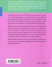 Medecins Et Sexualites - 4ème de couverture - Format classique
