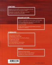 Mémento de droit public ; les grandes dates - 4ème de couverture - Format classique