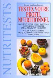 Testez Votre Profil Nutrionnel - Intérieur - Format classique