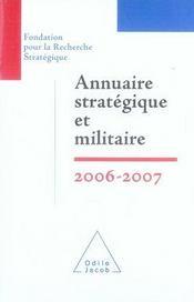 Annuaire stratégique et militaire 2006-2007 - Intérieur - Format classique