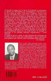 Congo : Le Temps Du Devoir - 4ème de couverture - Format classique
