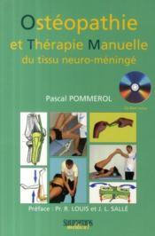 Ostéopathie et thérapie manuelle du tissu neuro-méningé - Couverture - Format classique