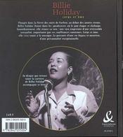 Billie holiday corps et ame - 4ème de couverture - Format classique