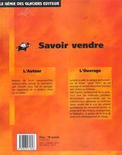 Savoir Vendre. 50 Fiches Performance - 4ème de couverture - Format classique