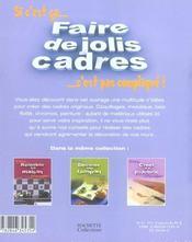 Faire De Jolis Cadres - 4ème de couverture - Format classique