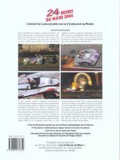 24 heures du mans 2004 - 4ème de couverture - Format classique