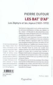Les Bat' D'Af' ; Les Zephyrs Et Les Joyeux, 1831-1972 - 4ème de couverture - Format classique