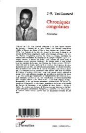 Chroniques Congolaises - 4ème de couverture - Format classique