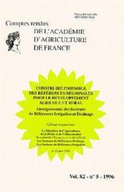 Construire ensemble des references regionales pour le developpement agricole et rural ; comptes rendus - Couverture - Format classique