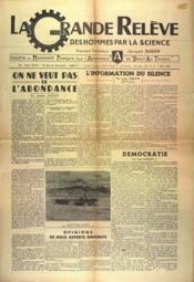Grande Releve (La) N°31 du 01/06/1946 - Couverture - Format classique
