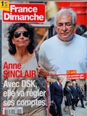 France Dimanche N°3391 du 26/08/2011 - Couverture - Format classique