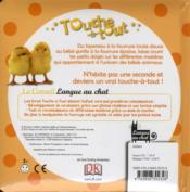 TOUCHE-à-TOUT ; les bébés animaux - 4ème de couverture - Format classique