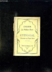Choisir Les Meilleurs Textes Stendhal. - Couverture - Format classique