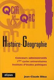 Qcm et qrc histoire-géographie - Intérieur - Format classique