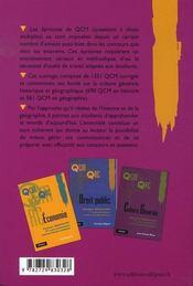 Qcm et qrc histoire-géographie - 4ème de couverture - Format classique