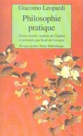 Philosophie Pratique - Couverture - Format classique