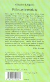Philosophie Pratique - 4ème de couverture - Format classique