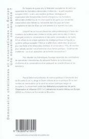 Democraties Chretiennes Et Conservatismes En Europe - 4ème de couverture - Format classique