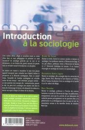Introduction à la sociologie (6e édition) - 4ème de couverture - Format classique