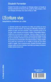 L'ecriture vive - 4ème de couverture - Format classique