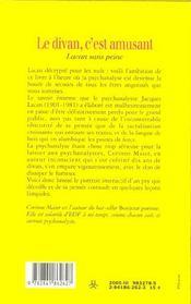 Divan C'Est Amusant - 4ème de couverture - Format classique