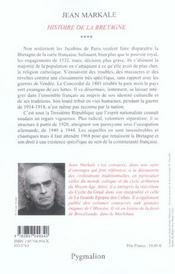 Histoire de la bretagne t4 - 4ème de couverture - Format classique