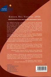 Russie. nei. visions 2006 ; understanding russia and the new independent states - 4ème de couverture - Format classique