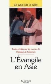 L'évangile en Asie - Couverture - Format classique