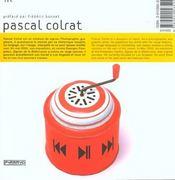 Pascal Colrat - 4ème de couverture - Format classique