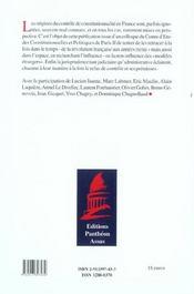 Aux origines du controle de constitutionnalite xviii xx siecle - 4ème de couverture - Format classique