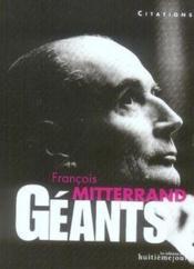 Francois Mitterrand - Couverture - Format classique
