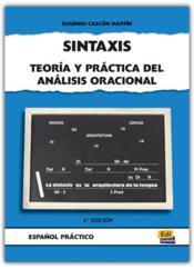 Sintaxis Teoria Y Practica - Couverture - Format classique