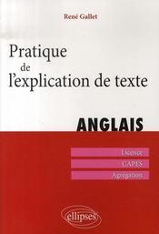 Pratique de l'explication de texte en anglais - Intérieur - Format classique