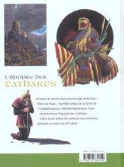 L'epopee des cathares - 4ème de couverture - Format classique