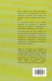Les Consequences De L'Acromegalie - 4ème de couverture - Format classique
