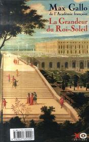 Louis Xiv T.1 ; Le Roi-Soleil - 4ème de couverture - Format classique