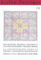 Revue Action Poetique T.170 ; Poésie Chinoise - Intérieur - Format classique