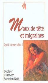 Maux de tetes et migraines - Intérieur - Format classique