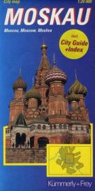 City map ; Moscou, Moscow, Moskva - Couverture - Format classique