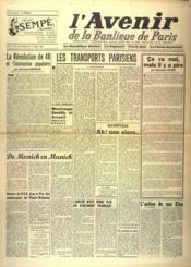 Avenir De La Banlieue De Paris (L') N°99 du 01/06/1946 - Couverture - Format classique