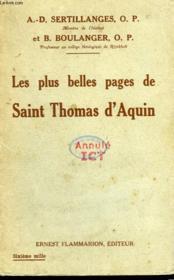 Les Plus Belles Pages De Saint Thomas D'Aquin. - Couverture - Format classique
