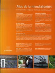Atlas de la mondialisation 2007 ; comprendre l'espace mondial contemporain - 4ème de couverture - Format classique