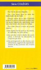 La Venus D' Ille - Parcours De Lecture - 4ème de couverture - Format classique