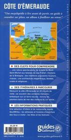 Côte d'émeraude ; saint-malo, cancale, dinard, dinard, cap fréhel - 4ème de couverture - Format classique