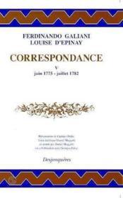 Correspondance Tome V (Juin 1775-Juillet 1782) - Couverture - Format classique